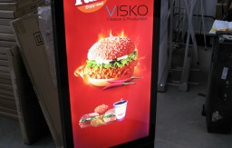 _stand lightbox with led screen